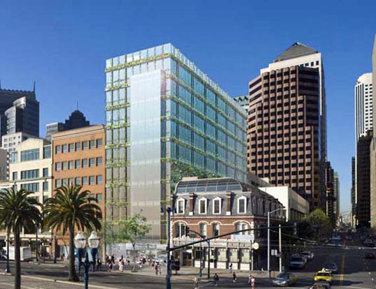 110 embarcadero, pelli clarke pelli architects, green design, sustainable architecture, green building, leed platinum high rise, greenest building on the west coast, san francisco, solar panels