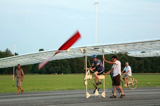 Teenager Builds Pedal Powered Airplane Out Of Balsa Wood
