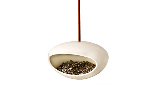 nhabitat green gift guide, holiday gift guide, sustainable design, mom and dad gift guide, parents gift guide, holiday present guide, green design gift guide, ceramic bird feeder