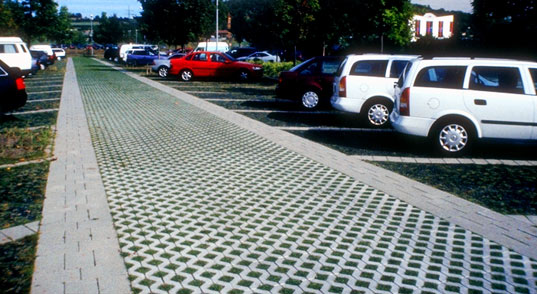 Holey Concrete Pervious Paving Reduces Stormwater Run Off