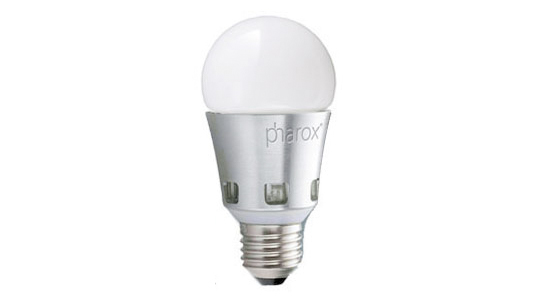 sustainable design, green design, energy saving gadgets, green gadgets, clean technology, energy reducing gadgets, top five green gadgets, energy efficiency, pharox led bulb