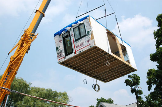 prefab friday solar green homes delivered by truck