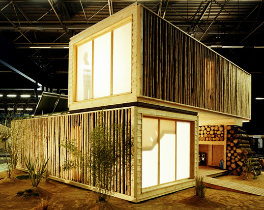 Olgga architects wooden modular buildings prefabricated architecture prefab structures salon europeen du bois inhabitat green design