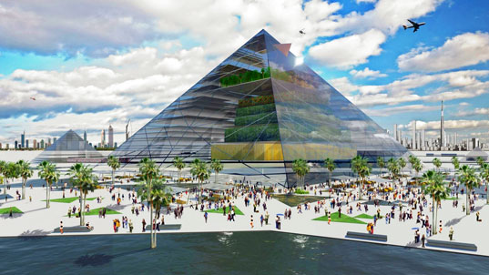Pyramid Farm is a Vision of Vertical Agriculture for 2060