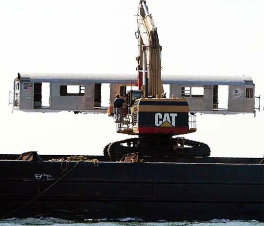 MTA subway oceans artificial reef coral reef Delaware Department of Natural Resources and Environment, reef2.jpg