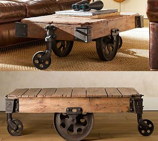 Reclaimed Factory Cart Table From Restoration Hardware | Inhabitat   Green  Design, Innovation, Architecture, Green Building