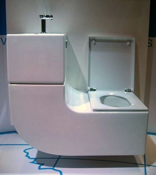 Sleek SinkToilet Combo is an All in One Greywater Recycling