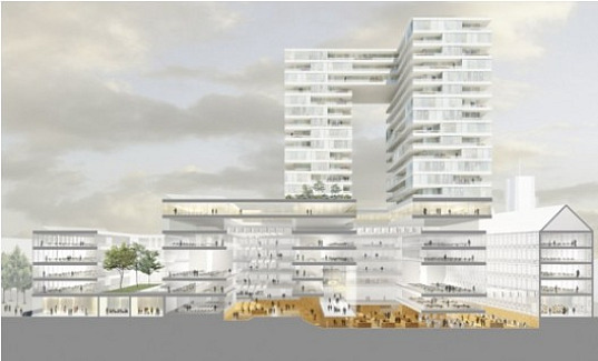 rotterdam city-hall, rotterdam, city-hall, extension, competition, sustainable building