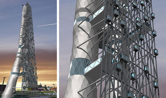 sustainable architecture, green building, green design, Rotterdam Tower, Monolab, Monolab Architects, Sustainable Building, Photovoltaic