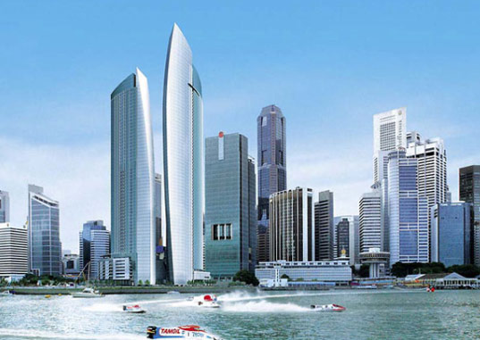 Singapore Central Business District, Marina Bay Development, NBBJ Architects, The Sail at Marina Bay, Sustainable Building