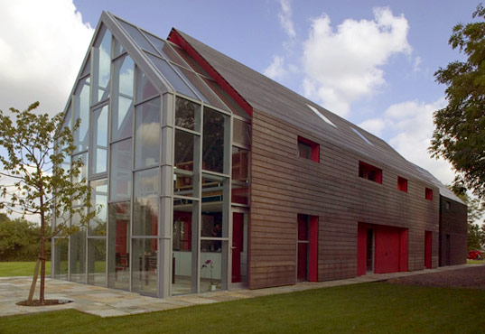 Sliding House By Drmm That Slides A Movable Transforming Sustainable Timber Home Barn Roof And Walls
