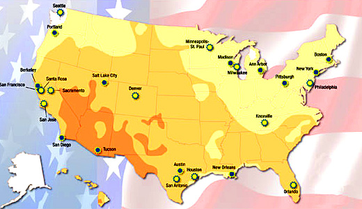 The Newly Selected Solar America Cities Are Denver Colorado Houston Texas Knoxville Tennessee Milwaukee Wisconsin Minneapolis St Paul Minnesota