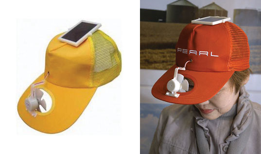 sustainable design, green design, top ten silliest eco gadgets, products, greenwashing, solar hat fan