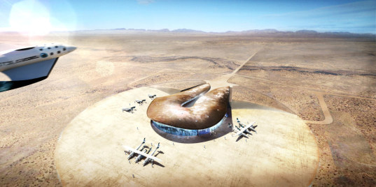 sustainable design, green building, sustainable architecture, foster and partners, spaceport america, new mexico, groundbreaking, LEED, space launch
