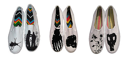 Species By Thousands, Hand-painted keds, hand painted canvas slip on shoes, eco shoes, green shoes, green flats, sustainable shoes, eco fashion, green fashion, sustainable fashion, eco shoe design, painted slip on canvas shoes
