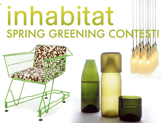 Inhabitat Spring Green Contest, Spring Cleaning contest, Spring Cleaning and greening Contest, Inhabitat spring reuse contest, inhabitat spring recycling contest!