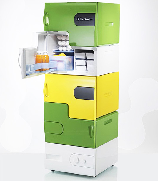 stackable lego fridges thwart thieving roomates inhabitat green