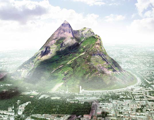 Design for World's Largest Man-Made Mountain Towers Over Berlin