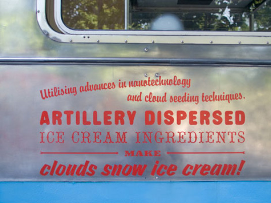 cloud seeding, cloud project, ice cream truck, ice cream clouds, nanotechnology, climate change technology, climate control technology, climate control, art emerging technologies