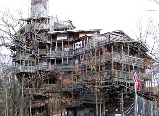 Biggest Treehouse In The World 2014 world's tallest treehouse built from reclaimed wood | inhabitat