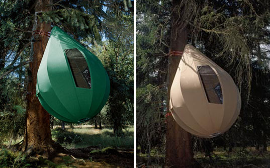 dre wapenaar, tree tents, treehouse tents, sustainable architecture, green design, alternative dwellings, tree-sitter housing, treetop housing