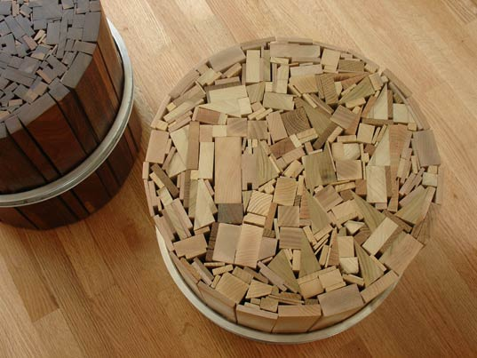 Uhuru, Stoolen Lite, Scrap Wood Table, BKLYN Designs, HauteGreen, Green  Furniture, Sustainable Furniture, Brooklyn Designers 4 « Inhabitat U2013 Green  Design, ...