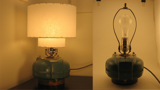 Electrolux Vacuum Cleaner Transformed Into Lamp