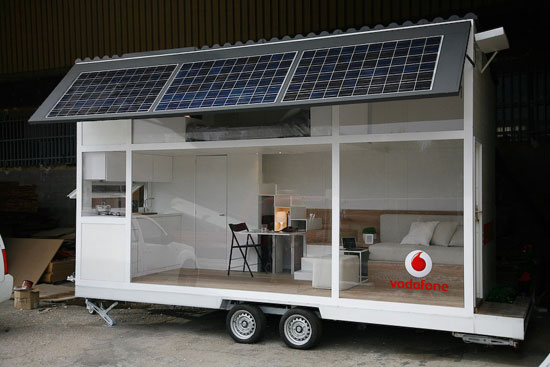 Captivating Solar Mobile Home Liberates Office Bound Desk Jockies. Architecture