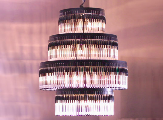 Bic ballpoint pen chandelier inhabitat green design innovation design aloadofball Gallery