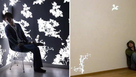 MILAN PREVIEW: Light Emitting Wallpaper by Jonas Samon