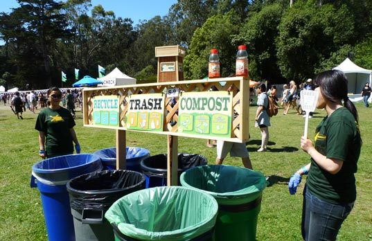 sustainable design, green design, event, music festival, outside lands, pg&e, solar powered stage, organic food, art, recycling, waste management