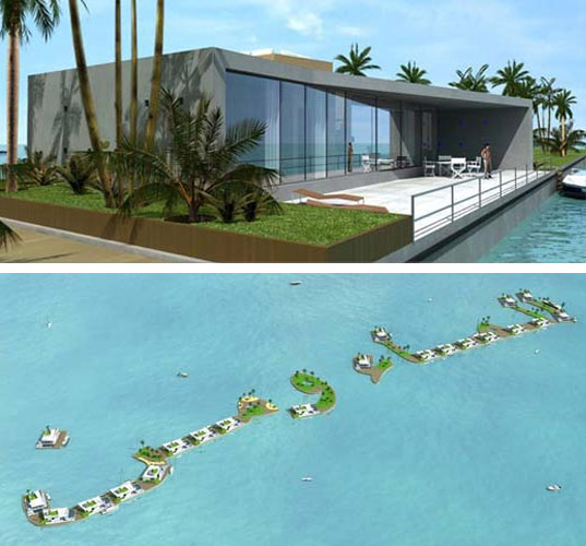 Koen Olthuis, Waterstudio, Waterstudio.nl, Dubai, Palm Resort, Floating houses, water houses
