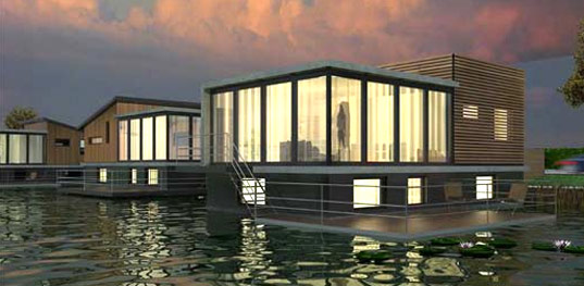 Waterstudio, Waterstudio.nl, Koen Olthuis, amphibious house, houseboat, floating house, flood resistant houses, interior