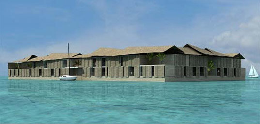 Waterstudio, Waterstudio.nl, Koen Olthuis, amphibious house, houseboat, floating house, health village resort in Aruba, for handicapped people