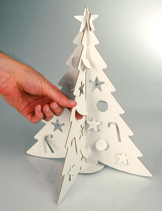 Tiny Tabletop Cardboard Christmas Tree From Cloudgate