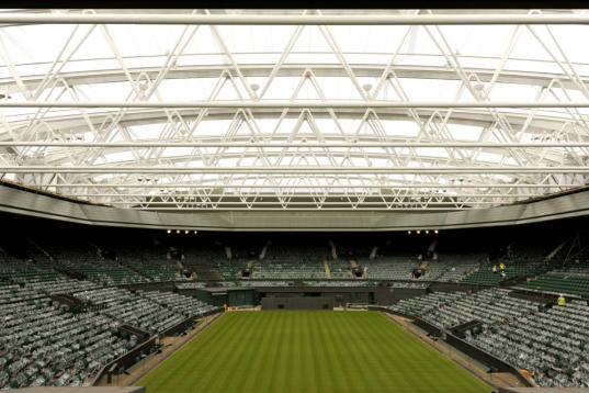 wimbledon retractable roof, sustainable design, green design, innovative architecture, green building, recyclable materials, energy efficient architecture, daylighting