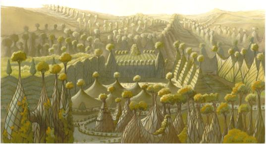 woven city, vegetal city, fig, trees, vegetal, brussels, utopian art, utopian design, utopia, paradise