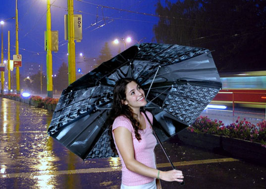 sustainable design, green design, x-ray umbrella, recycled materials, industrial design, anastacia spada, rain