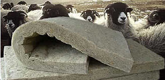 sheep wool building insulation, thermafleece, eco-friendly insulation, green insulation, green building materials