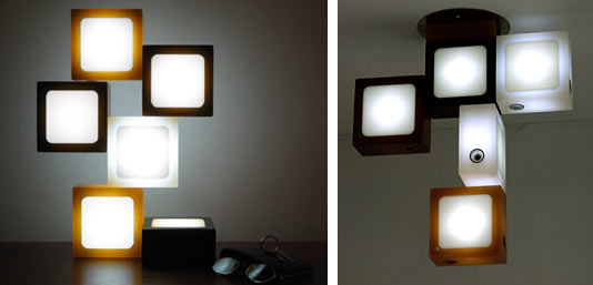Funky Led Lamp Transforms To Illuminate The Room And Spark