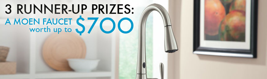 moen kitchen upgrade, moen kitchen upgrade contest, moen kitchen makeover contest, moen motion sense, motions sense, moen, moen faucets, inhabitat contest, inhabitat competition, water saving, water faucets, water saving in the kitchen, kitchen faucets