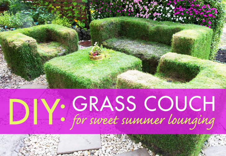 DIY Lawn Couch For Sweet Summer Lounging. Design