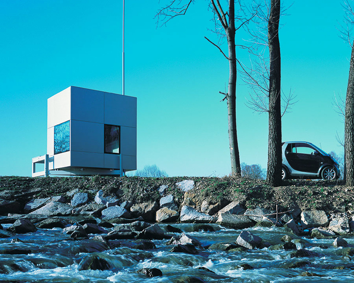 At just 77 square feet, the micro-compact home might seem small, but is an ideal size for a weekend getaway.