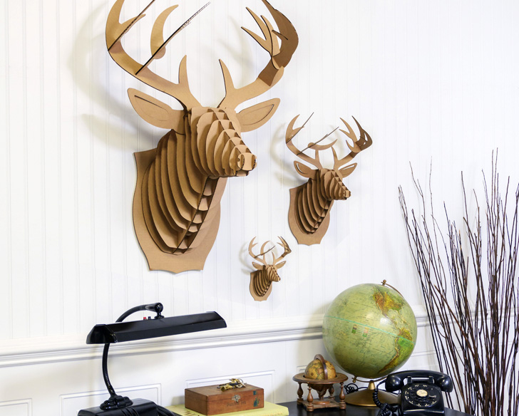 Cardboard Safaris Cruelty Free Taxidermy Kits Bring Your Walls To Life