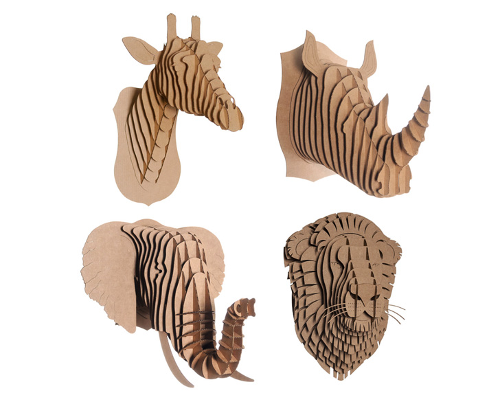 Cardboard safaris cruelty free taxidermy kits bring your walls to displaying ad for 5 seconds maxwellsz