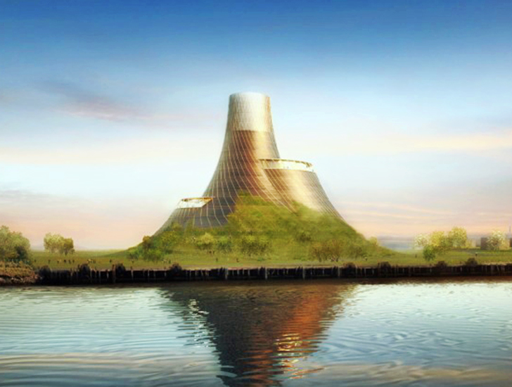 New Biomass Plant for the UK Looks Like a Giant Green Volcano