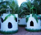 Water Tanks Recycled into Kids' Palaces at India's Dune Eco Resort
