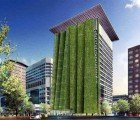 Portland to Get 250ft Vertical Garden With Vegetated Fins
