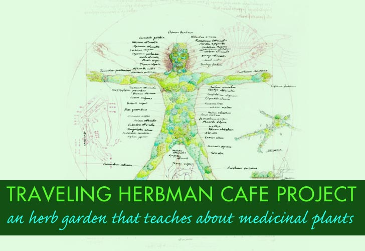Giant Man Shaped Traveling Garden Teaches About Herbal Medicine