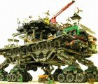 Lego 'Crawler Town,' A Toy City on Wheels Roaming a Barren Planet